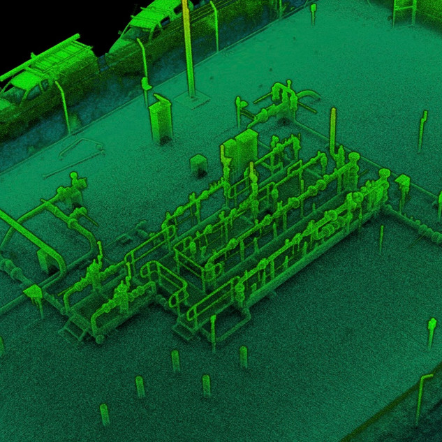 Gas Well Head - LIDAR As Built 3D Scan