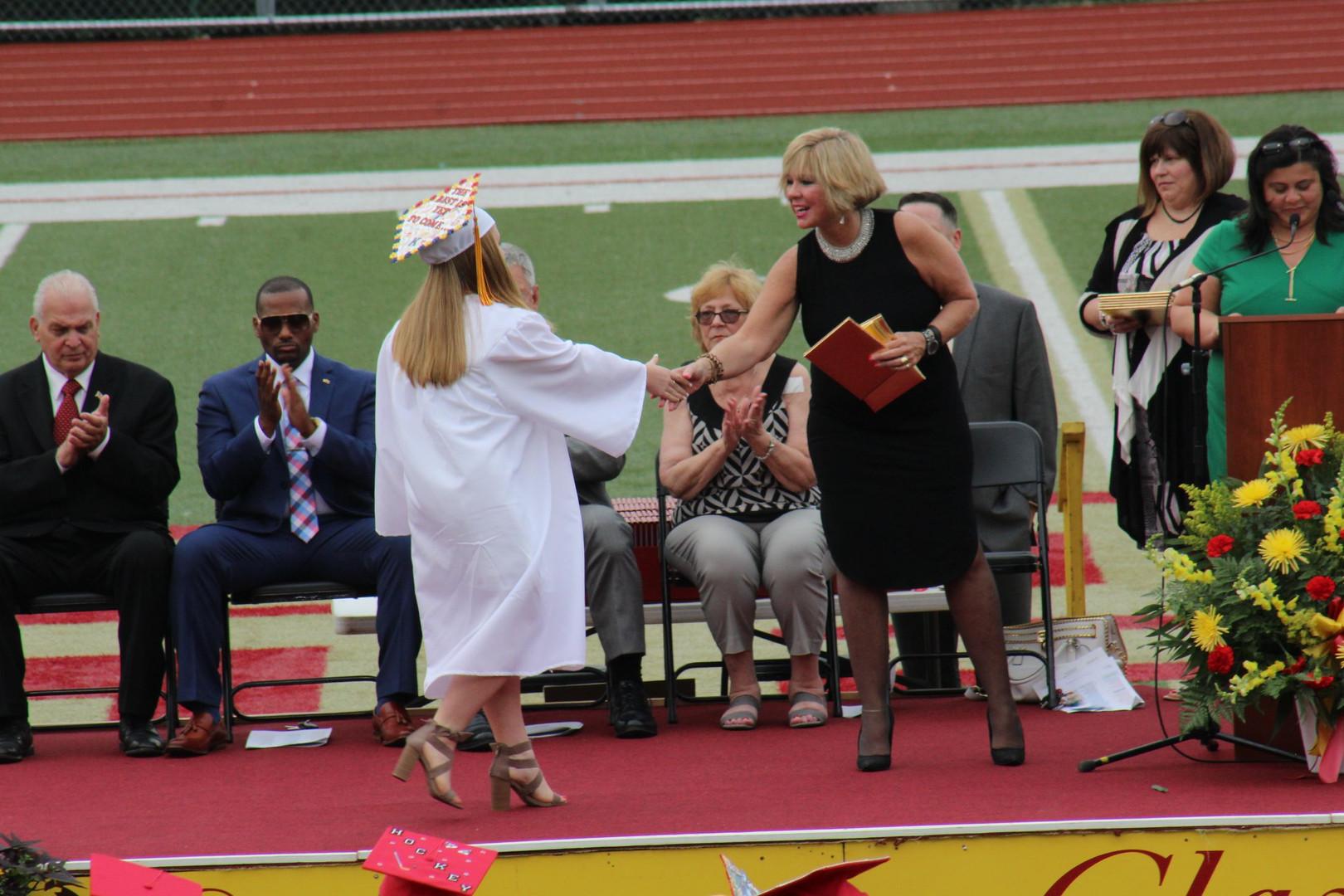 Erin at graduation