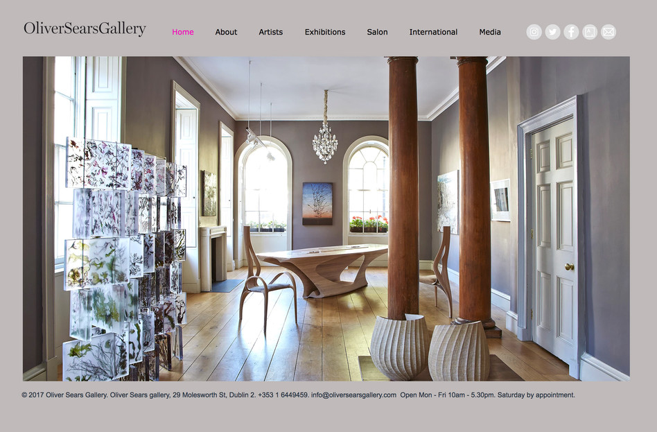 Oliver Sears Gallery - Website design and build