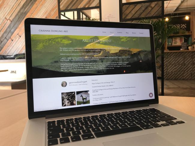 Gráinne Dowling Art - Website design and build