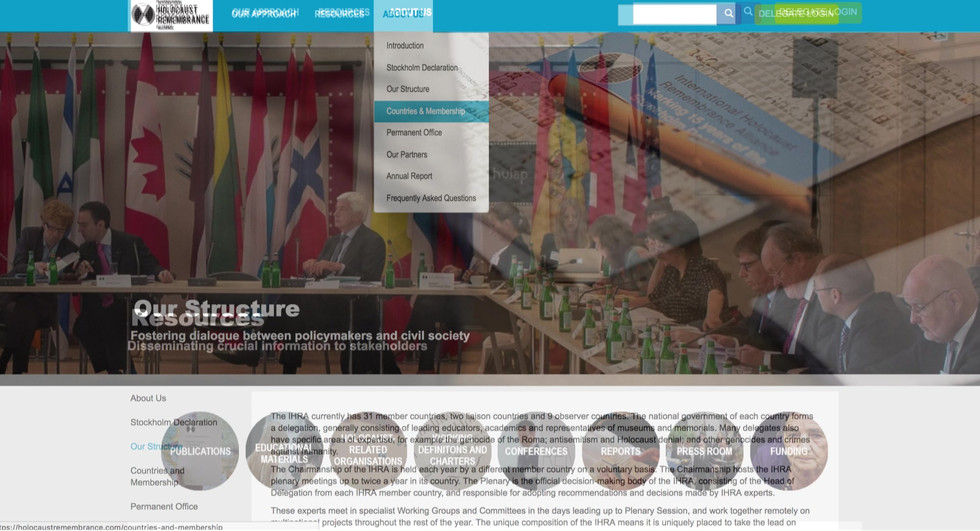 International Holocaust Remembrance Alliance - Website design and build