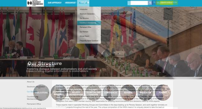 International Holocaust Remembrance Alliance - Website design and build