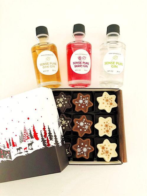 Sense Pure Gin Truffes Weihnachtsbox