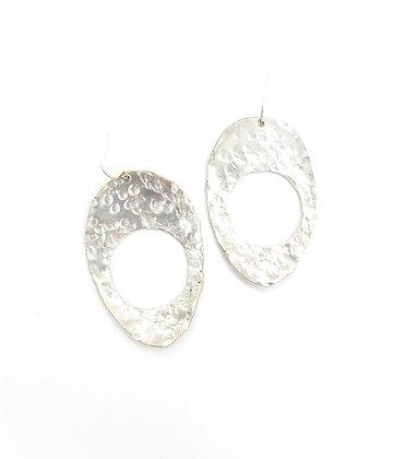 Hammered spoon earrings.