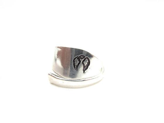 (Angel wings) Spoon ring.