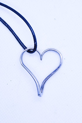 Fork tine heart Necklace.