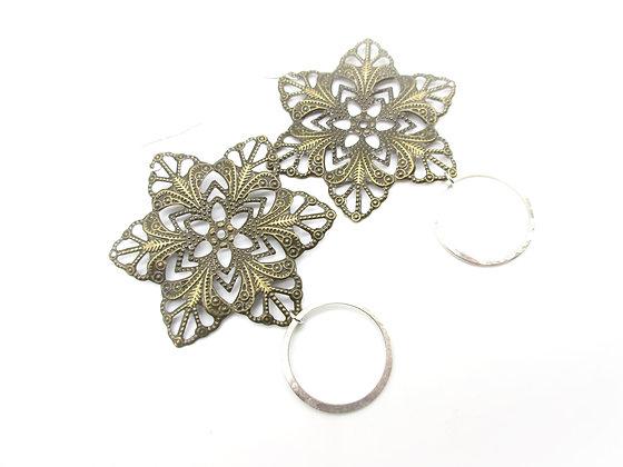 Spoon bowl earrings.