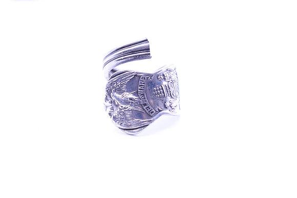 (Delaware) spoon ring.