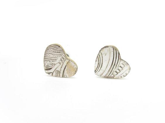 Silverware tray stud earrings.