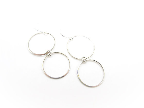 Punched spoon bowl earrings.