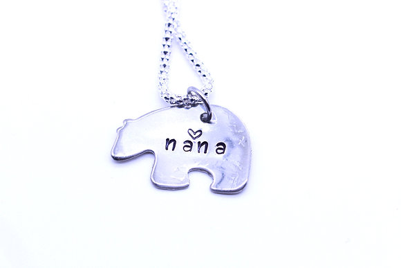 Nana bear necklace.
