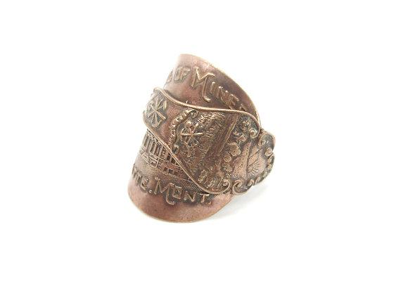 Copper spoon ring.