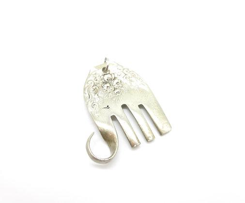 Elephant necklace.