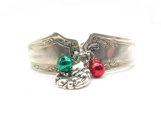 Mismatched adjustable spoon handle bracelet.