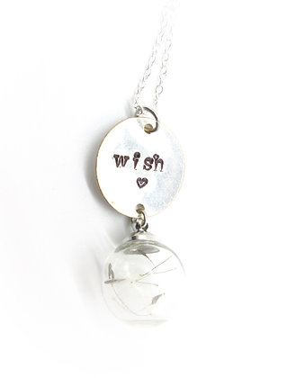 Silverware tray wish necklace.