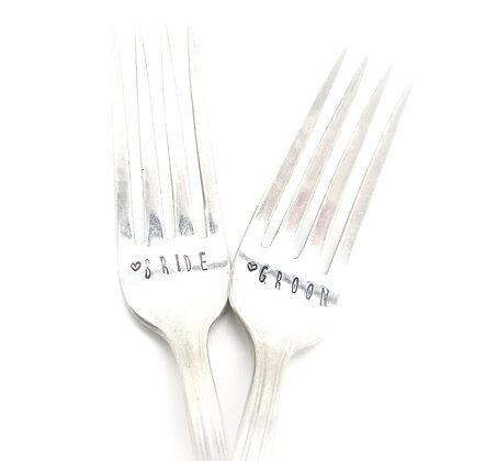 Stamped forks.