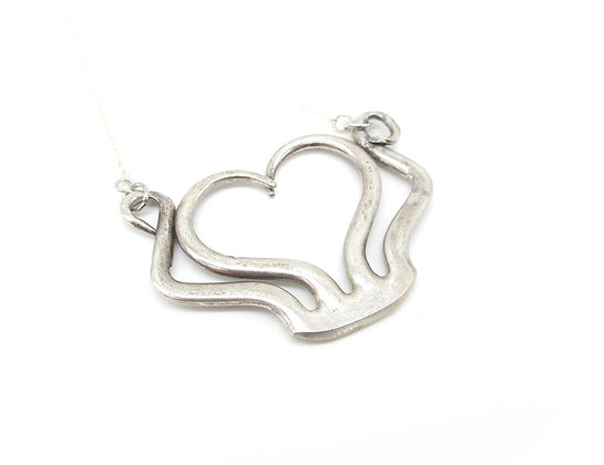 Fork tine necklace.