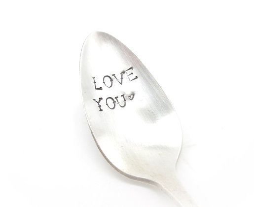 Stamped spoon.