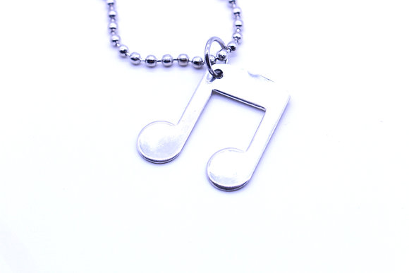 Music note necklace.