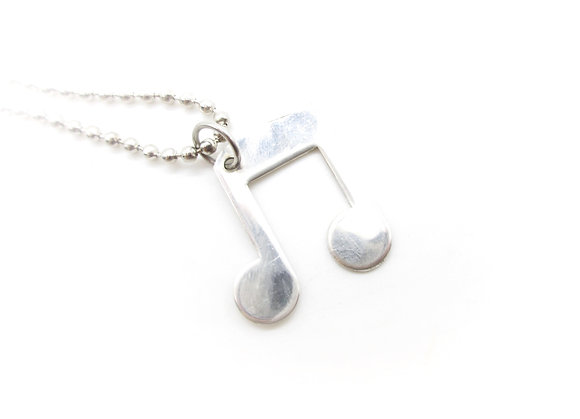 Spoon bowl music necklace.