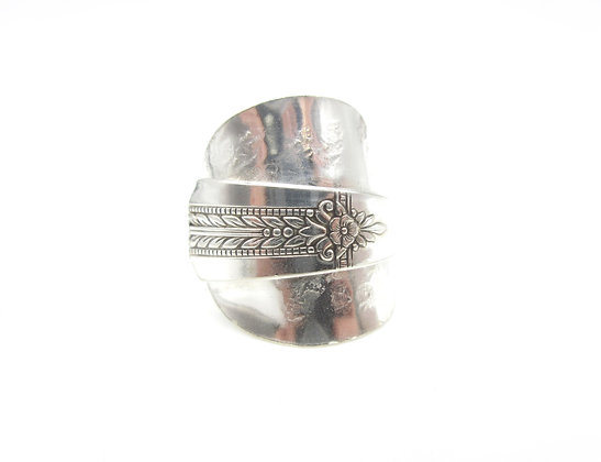 Hammered spoon ring.