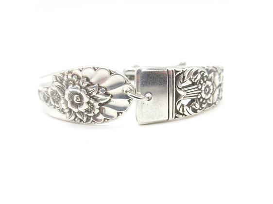 Mismatched adjustable spoon handle bracelet.