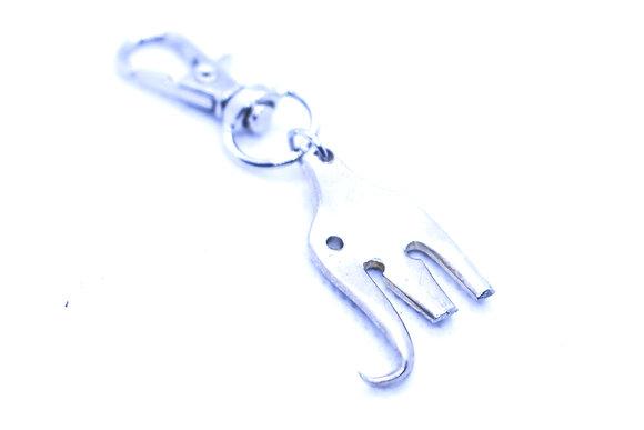Mini elephant keychain.