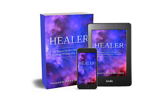 Healer book and card deck bundle