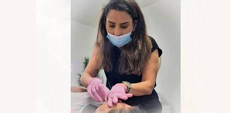 Doctor Mehreen Salaheen at work in the beauty clinic
