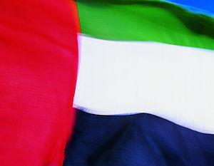 blurred image of UAE flag