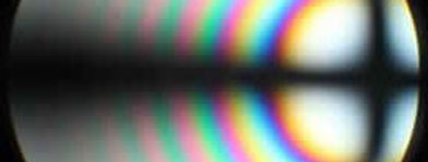 Uniaxial interference pattern used to determine optical crystallographic properties of polymorphs.