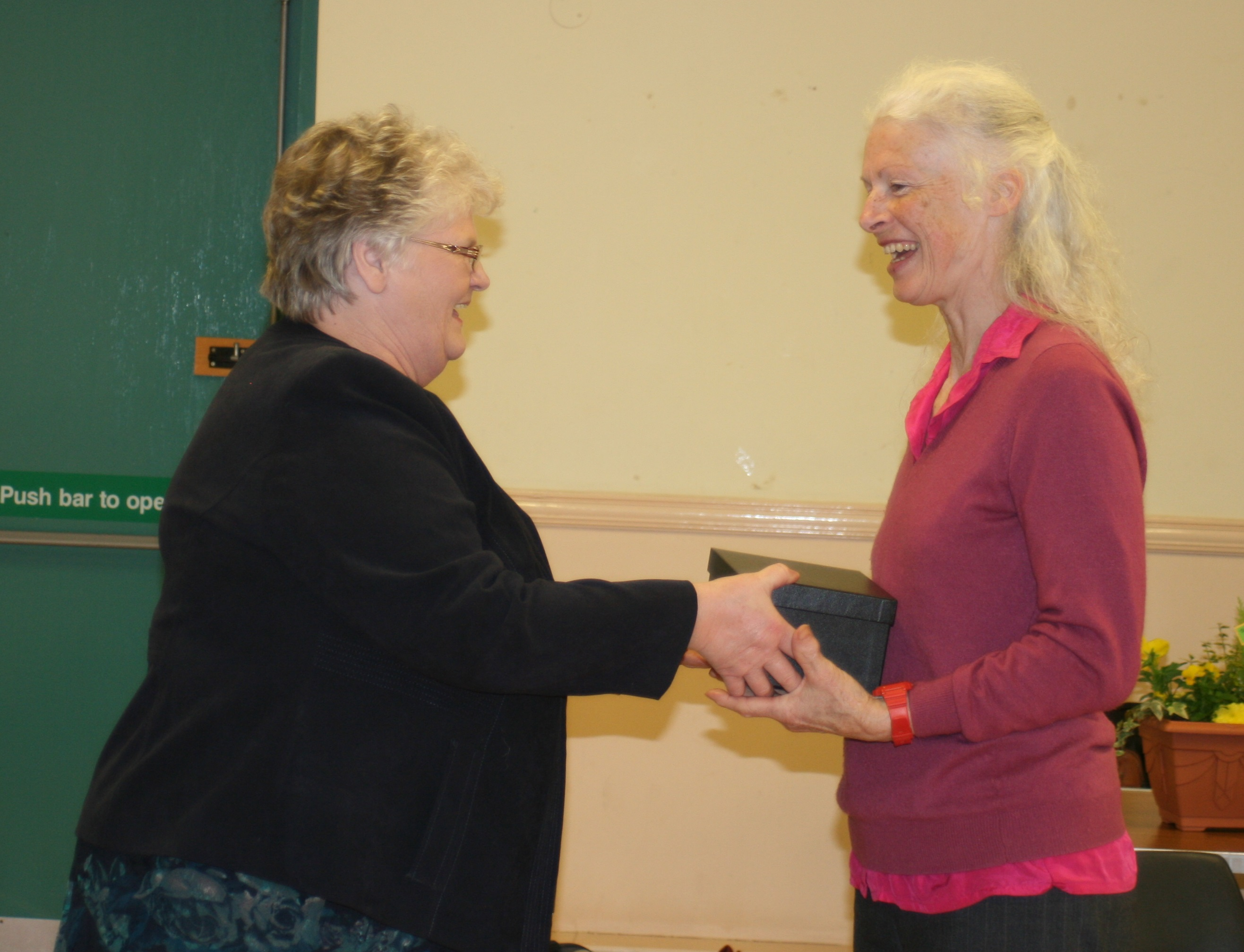 Presentation. Mrs Elizabeth Murray to Mary McBryde