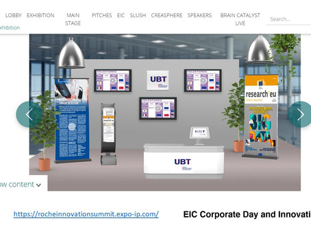UBT's pitch during the European Innovation Council Corporate Day