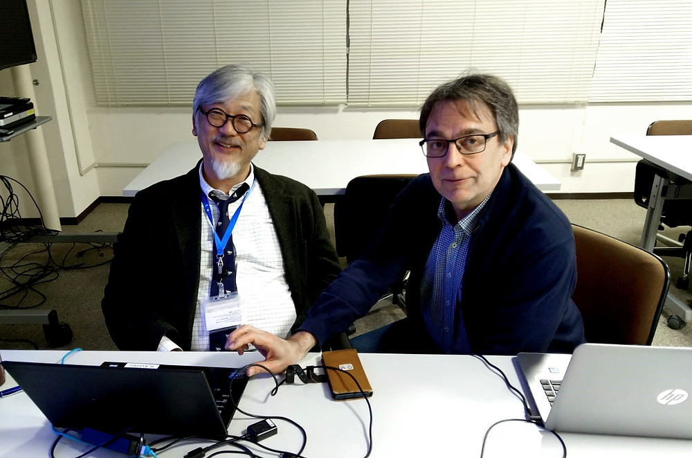 Prof. Ryuji Kohno and Prof. Jari Iinatti (from the left)