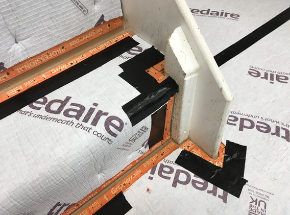 Stairs Underlay and Grippers Prep.