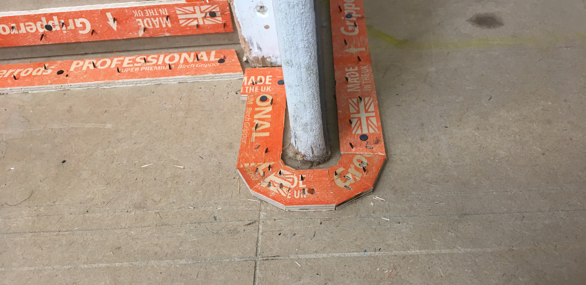 Grippers installed in accordance to British Standards
