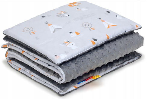 SNUGGLE MINKY BEDDING SET Sewn in filling – GRAY&BO-HO