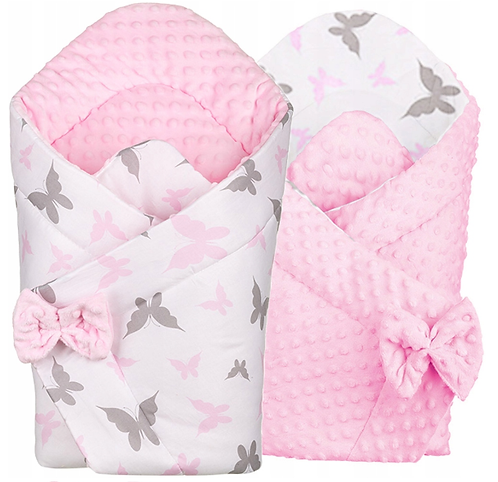 BUTTERFLY Luxury 3 in 1 : swaddle/ blanket/ tummy time play mat