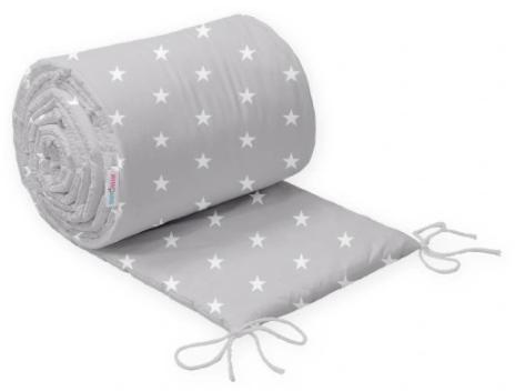 COT BUMPER PROTECTION -GREY&WHITE STARS