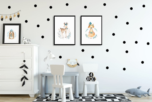 "Decowall "" Black Dots "" wall stickers"