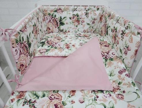 Cot Bedding Set-Roses