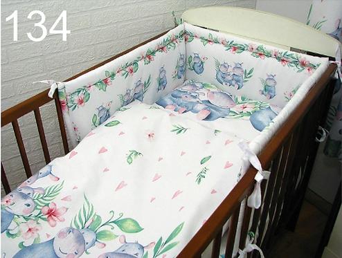 3 Pcs Cot Bedding Set- Hippa