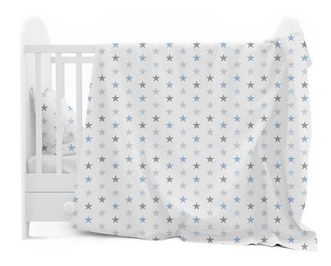 """BLUE STARS"" Cot bedding set"