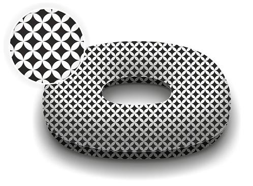 Donut Pillow For Postpartum Care BLACK&WHITE