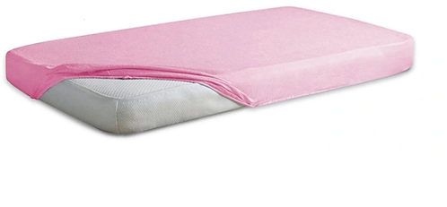 Jersey Cotton Fitted Sheet Cot Bed -PINK