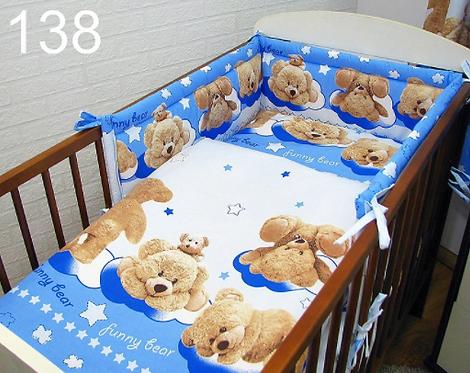 3 Pcs Cot Bedding Set-Funny Bears
