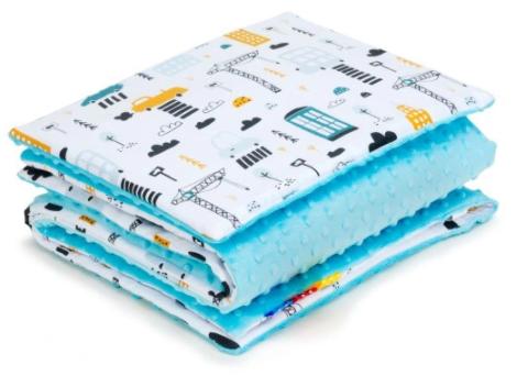 SNUGGLE MINKY BEDDING SET Sewn in filling – CARS&BLUE MINKY
