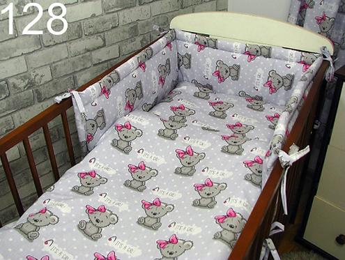 3 Pcs Cot Bedding Set- It's a Girl