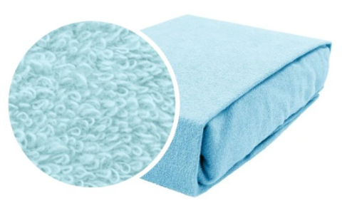 Cotton Fitted Sheet Cot Bed- BLUE