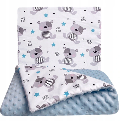 SNUGGLE MINKY BEDDING SET – CUTE TEDDY